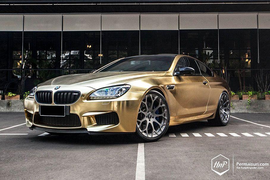 Golden Six Bmw M6 On Forgiato Bmw M6 Bmw Bmw Car