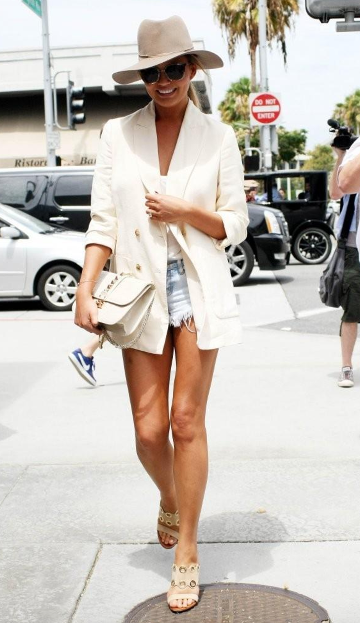 2a9fbb24b Chrissy Teigen | The Row Maguire Blazer | Celebrity Fashion and ...