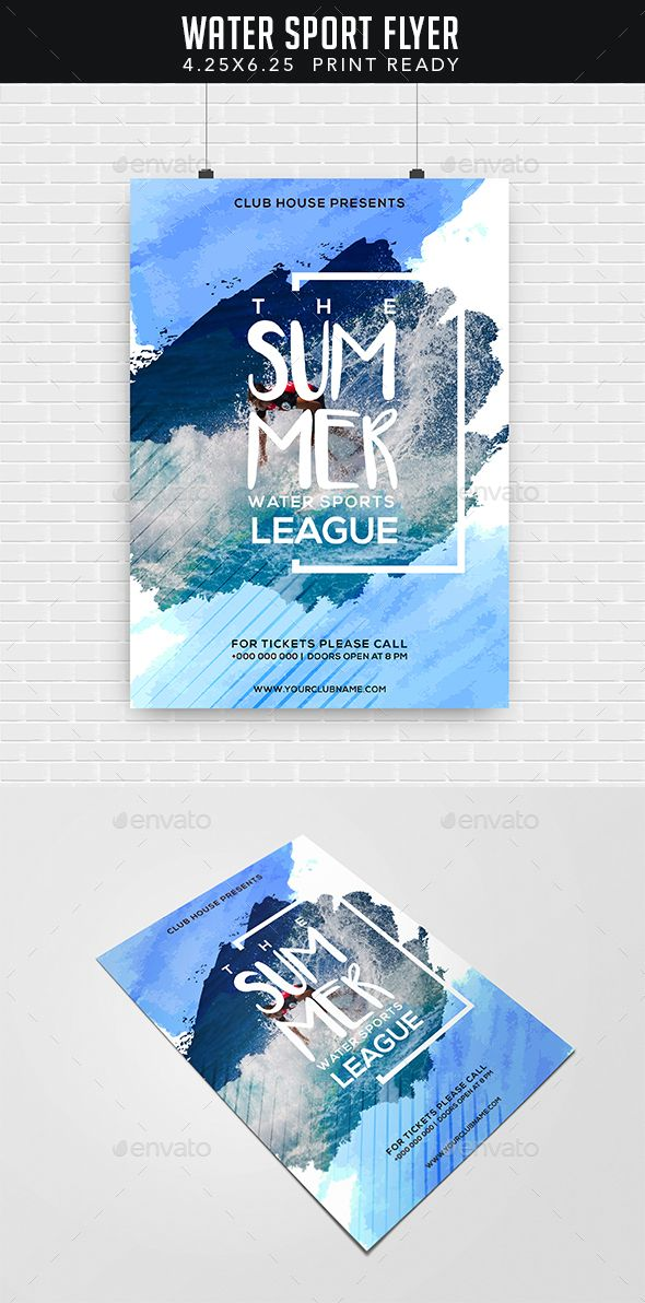 Water Sport Flyer Sports Events Here Https Graphicriver