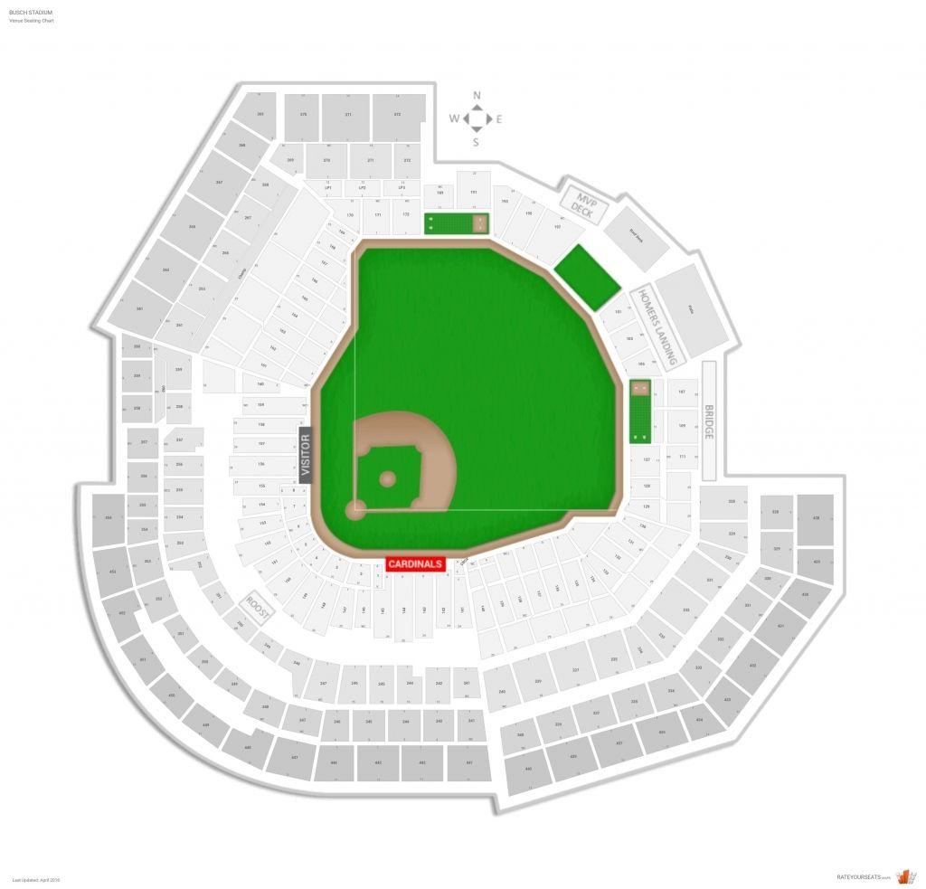 St Louis Cardinals Seating Chart St Louis Cardinals National Stadium Busch Stadium