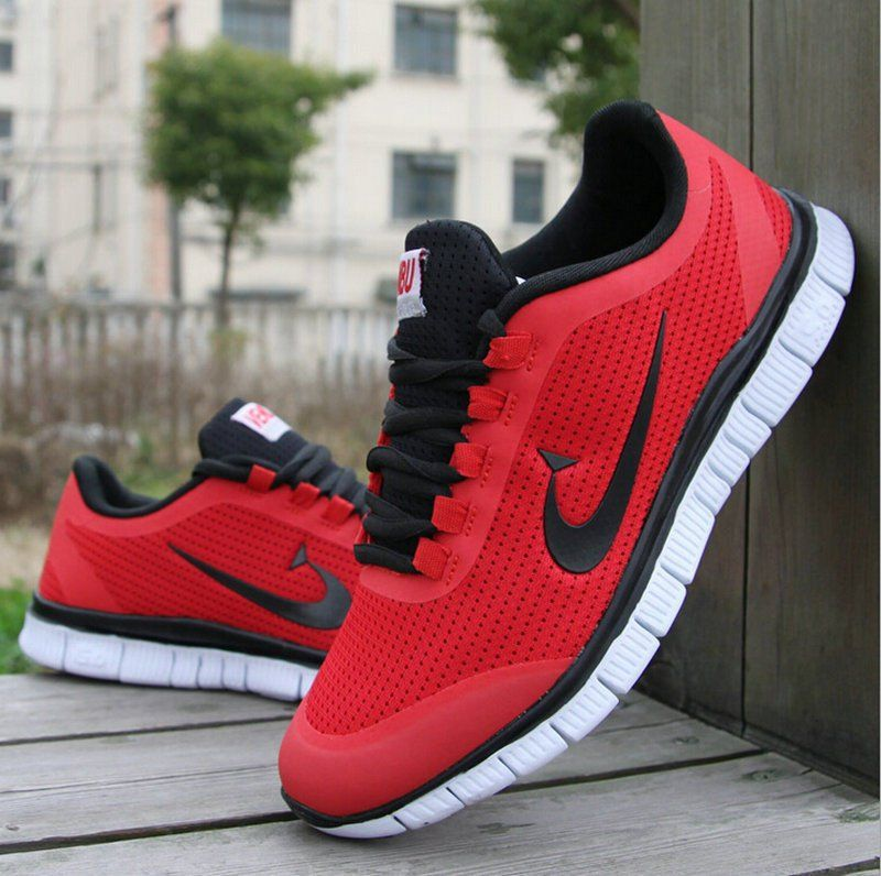 Shop - nike red colour sports shoes