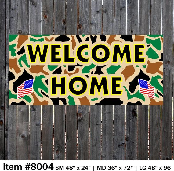 welcome home banner camo banner military banner banners camo