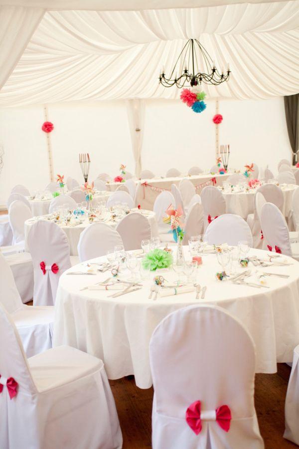 Un mariage blanc et rose sur le thème des bonbons