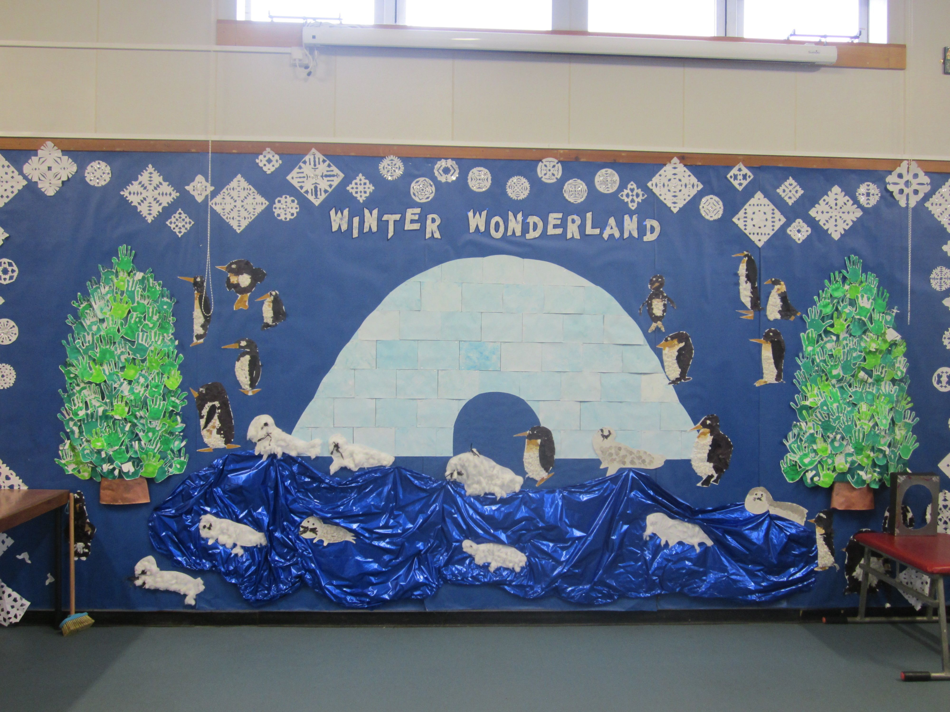Winter Wonderland Preschool Classroom Decorations : Whole school winter wonderland board for the hall