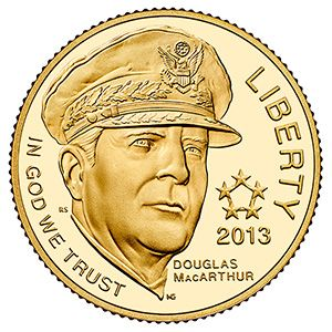 No Longer Available The 2013 5 Star Generals Commemorative Proof Gold Coin A Handsome Coin That Is Sure Gold Coins Silver Bullion Coins Gold Coins For Sale