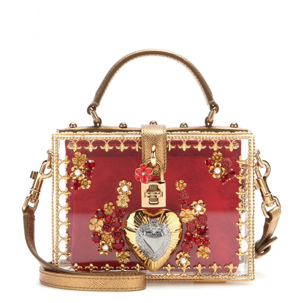 amp  E Pelle A Borsa Plexiglass In Gabbana Dolce Tracolla Con dac1SqW 6ab2b11ca81