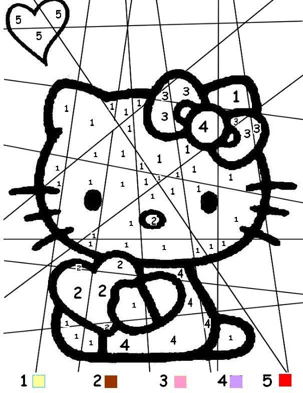 Coloriage a imprimer coloriage magique hello kitty coeur - Coloriage hello kitty ...
