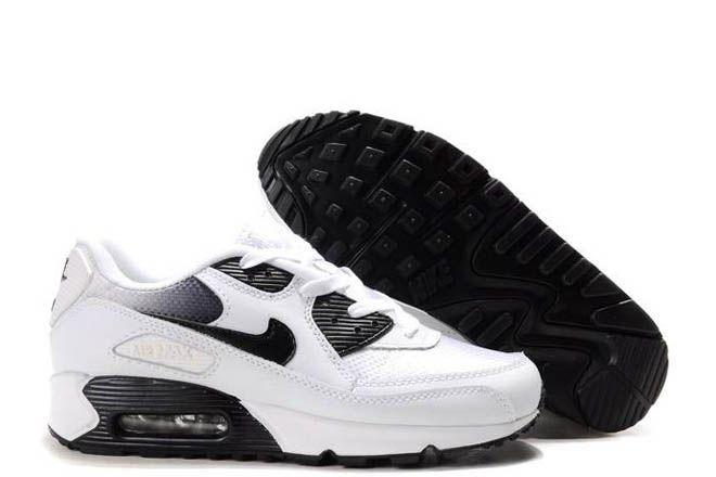 half off 8ef32 403ce Black · Nike Air Max 90 White Black Metallic Silver Running Sport Shoe