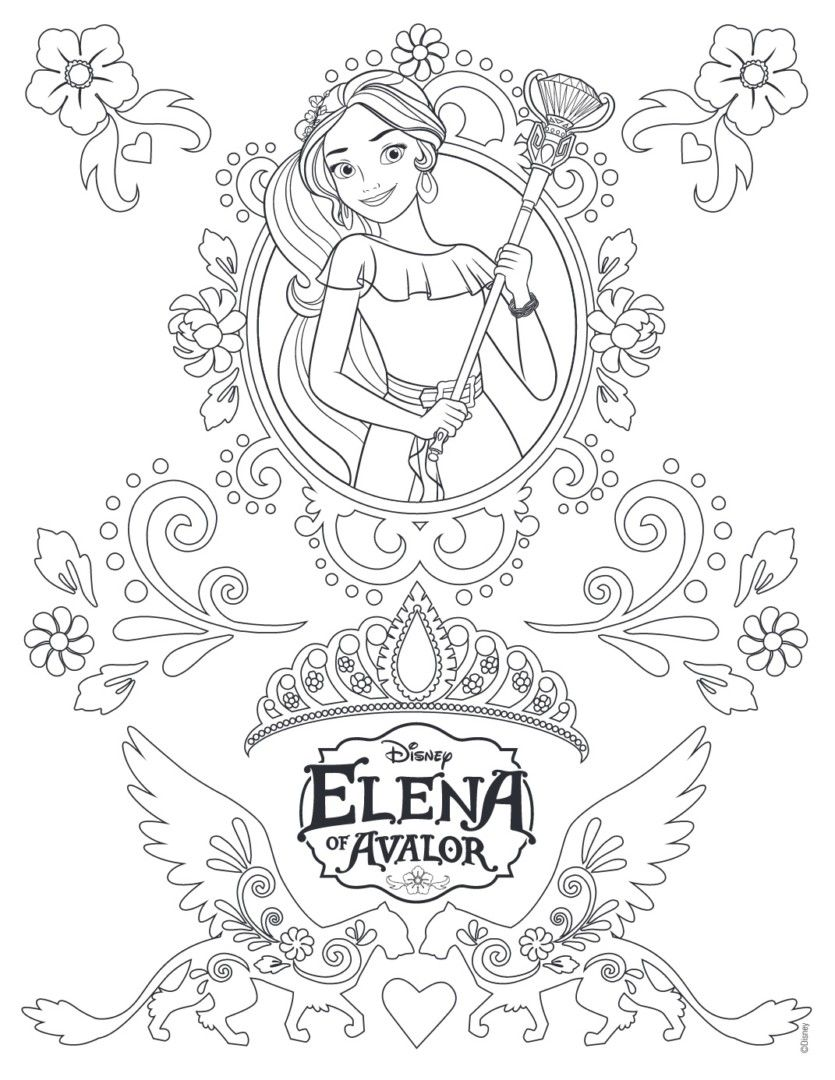 Elena Of Avalor Coloring Pages Desenhos Para Colorir Colorir
