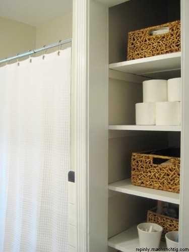 Pin By Jodi Keske On House Ideas Bathroom Linen Closet Open Bathroom Bathroom Baskets