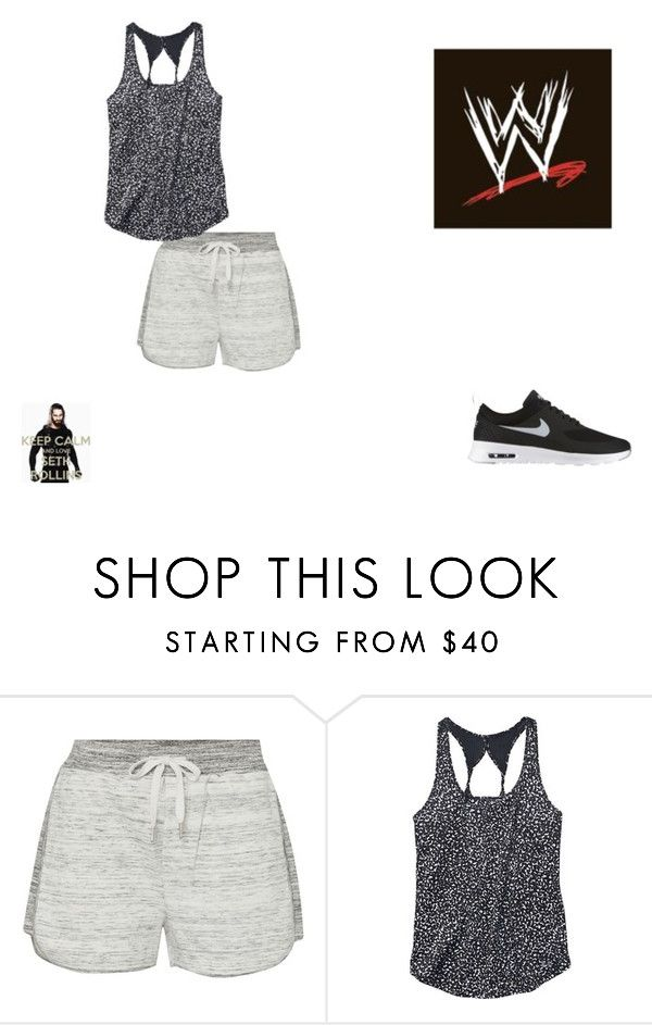 """""""Running Around the WWE Arena :)"""" by fashionbabe-1738 ❤ liked on Polyvore featuring Calvin Klein, Under Armour and NIKE"""