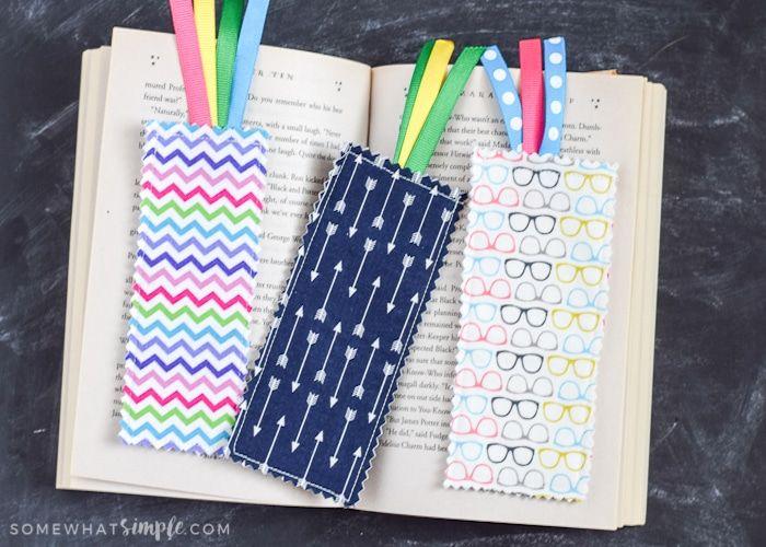 Scrap Fabric Bookmarks Tutorial - Somewhat Simple #scrapfabric