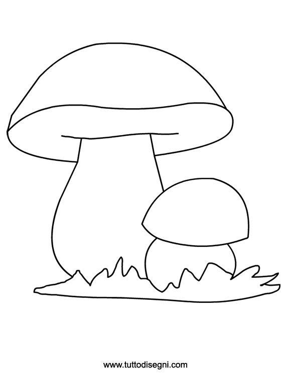 Disegno Funghi Porcini Da Colorare Tuttodisegnicom осень
