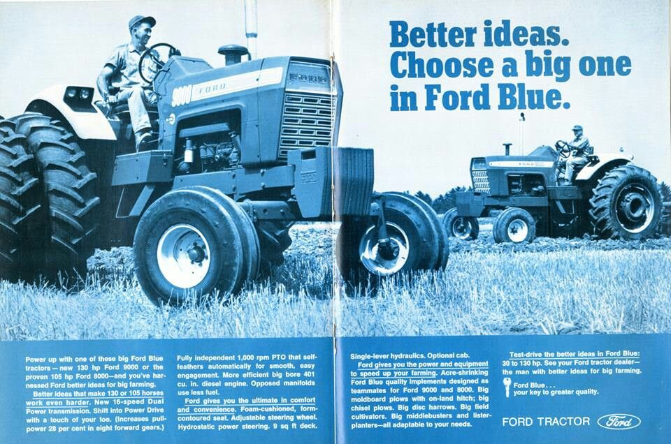 Ford Ad Ford Tractors Old Tractors Vintage Tractors