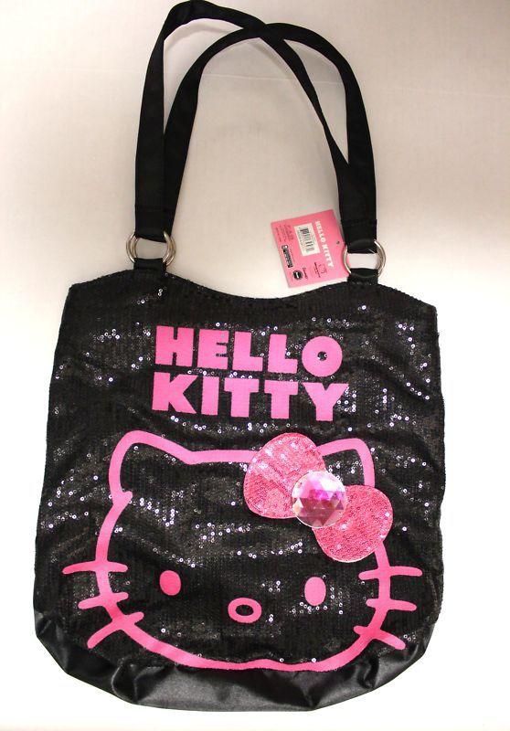 Hello Kitty Black Tote Per Bag Ribbon Ebay