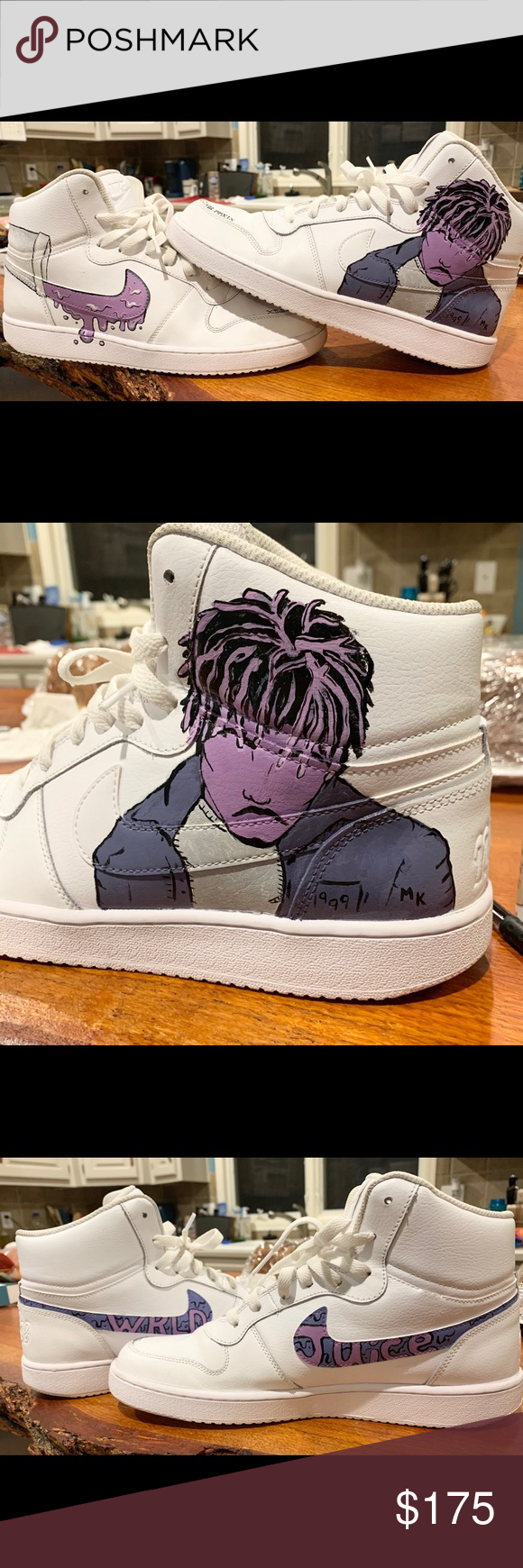 Juice WRLD Nike Ebernon AirForce 1s Custom nike shoes