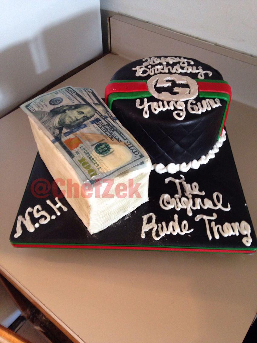 Gucci cake money cake #guccicake #moneycake