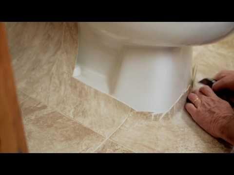How To Install Sheet Vinyl Around A Toilet Youtube Vinyl Flooring Installation Vinyl Flooring Bathroom Vinyl Sheet Flooring