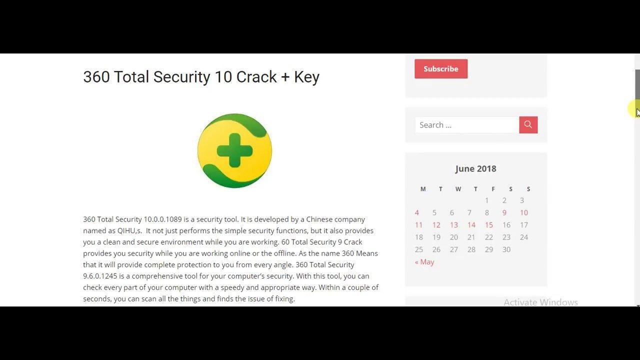 360 total security 2018 serial keys