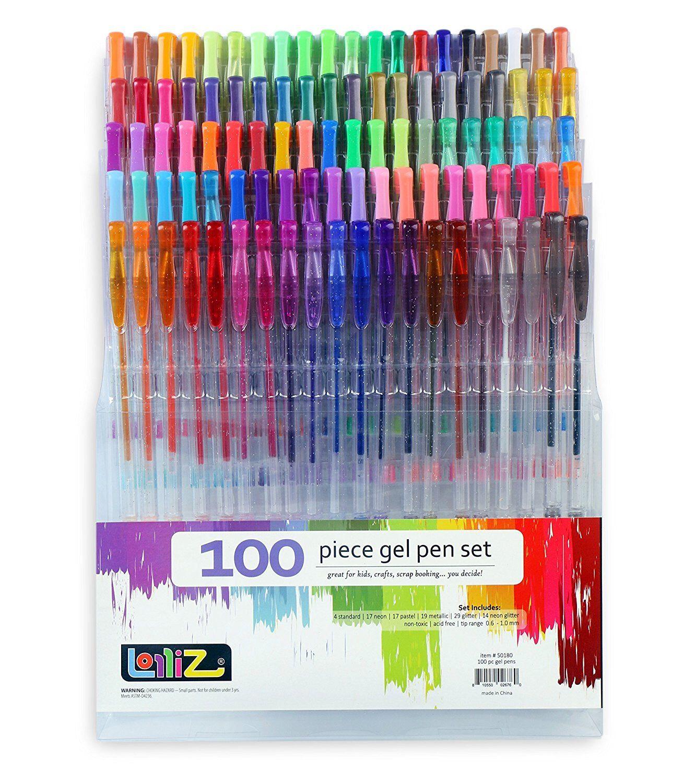 Bible Journaling Scrapbooking Gel Pens; Neon Drawing 70 Coloring Gel Pens; Adult Coloring Books Pastel Glitter Planner Metallic