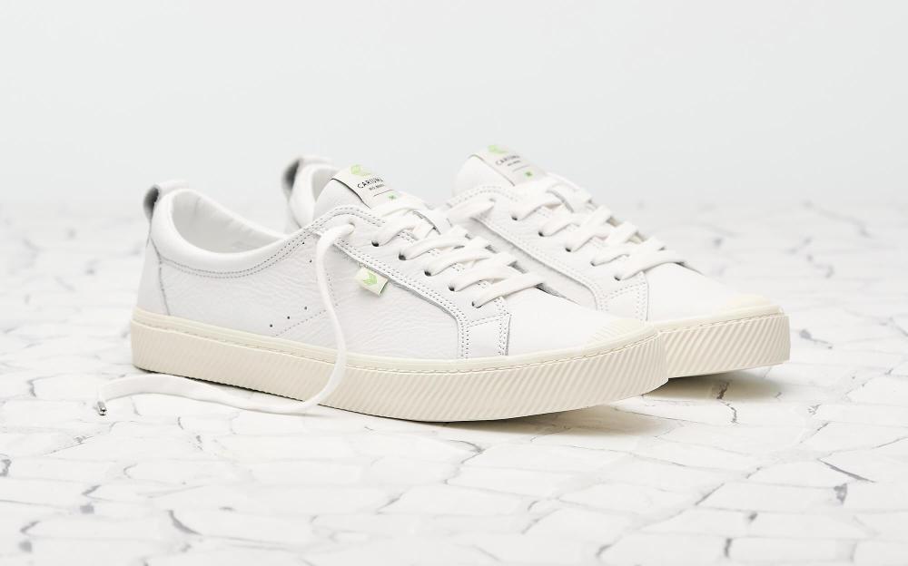 White Premium Leather Sneaker Women