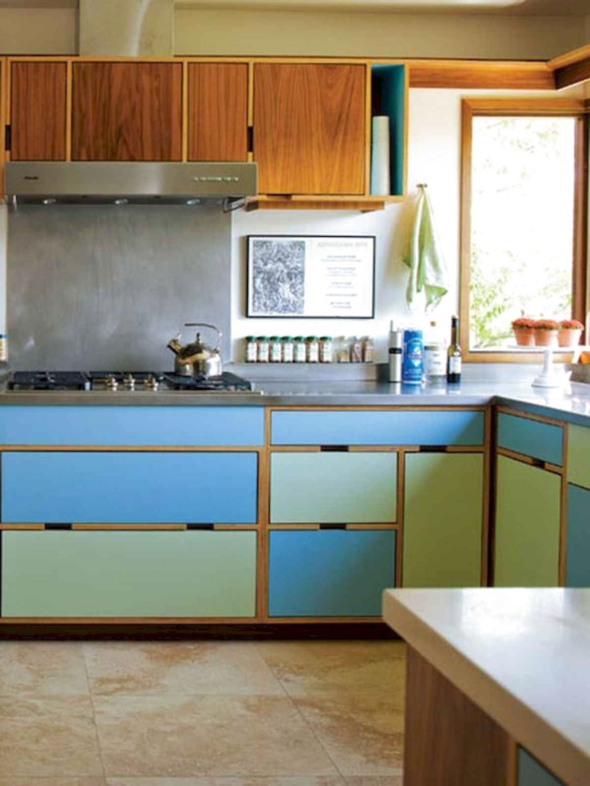 65 Beautiful Painted Kitchen Cabinets Design Ideas ...