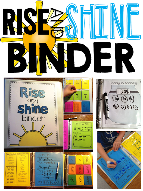 When students arrive they work their way through a series of interactive activities all housed in one special binder in their desks.