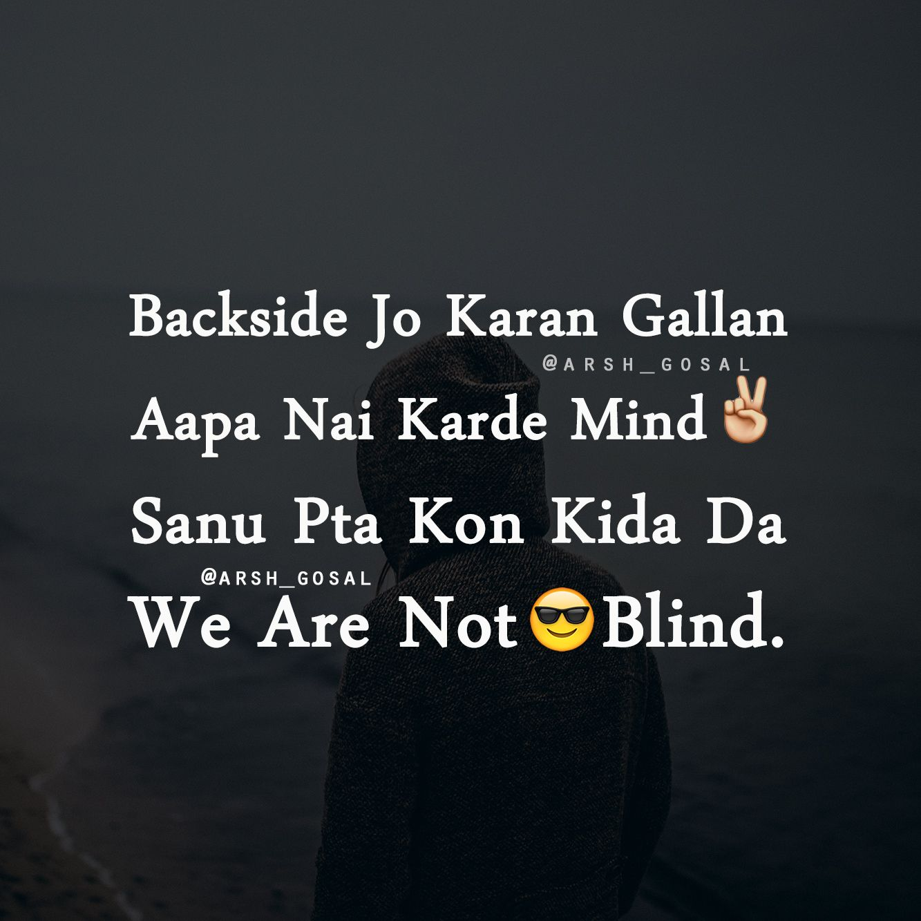 arshgosal  Reality quotes, Funny true quotes, Punjabi love quotes