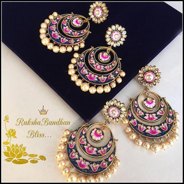 Sisters Deserve the best  This Rakshabandhan Gift your loving sister our Exclusive Hand enamelled Chandbalis #RaAbtabyrahul#rakshabandhan#special#gifting#ideas#soulsister#bliss