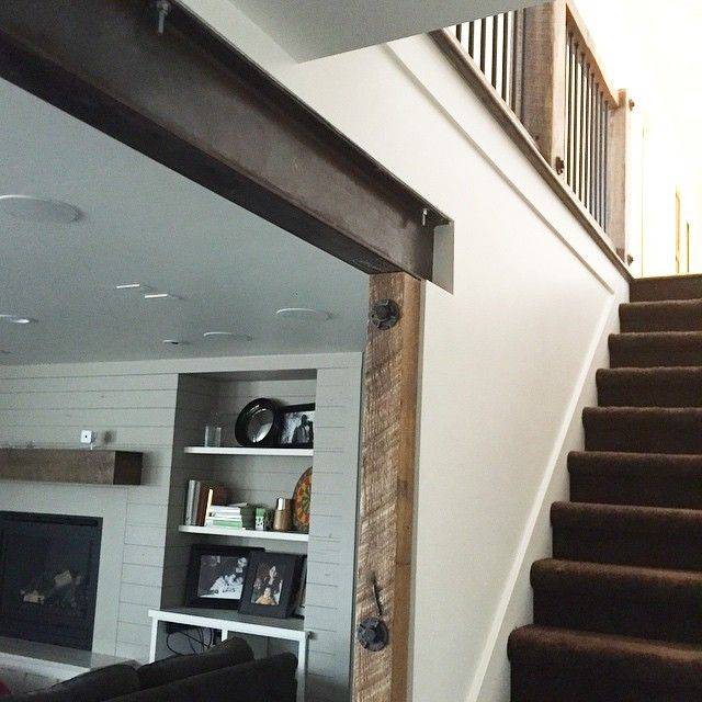 Elegant Basement Steel Beam