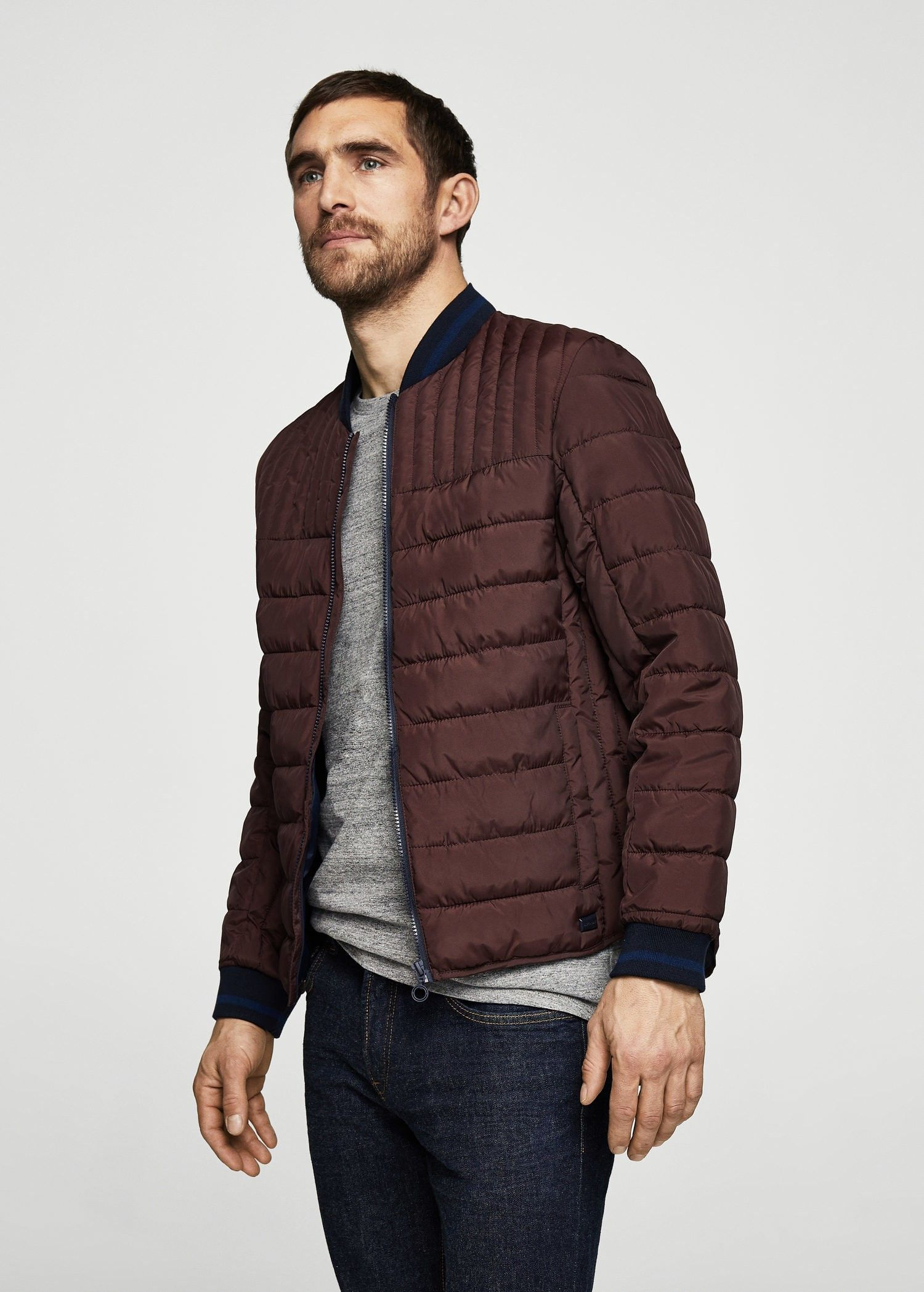 Mango Quilted Bomber Jacket Men Man Xl In 2019 Bomber Jacket Men Jackets Bomber Jacket