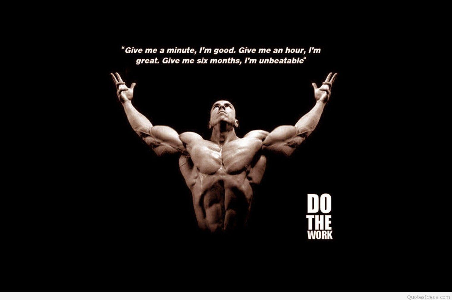 Bon Fitness HD Wallpaper Mobile Quote