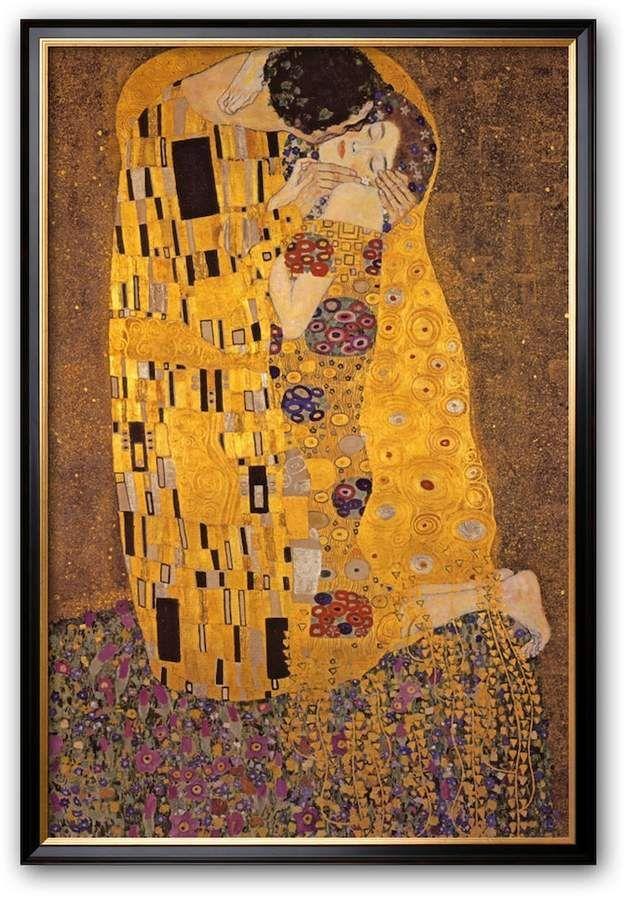 Art.com The Kiss, c.1907 Large Framed Art Print by Gustav Klimt ...