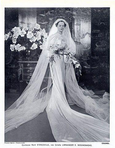 Chanel 1937 Wedding Dress, Pearly Diadem, Fashion