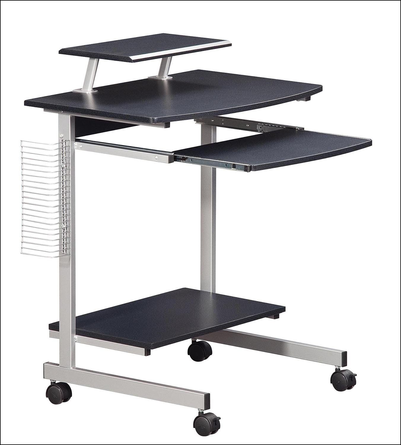 Rolling computer stand complete workstation on wheels wheels