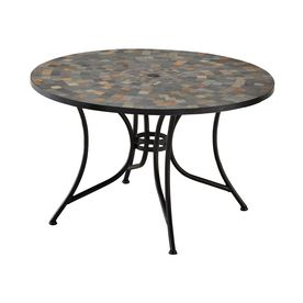 home styles stone harbor 51 25 in w x 51 25 in l round steel dining rh pinterest com