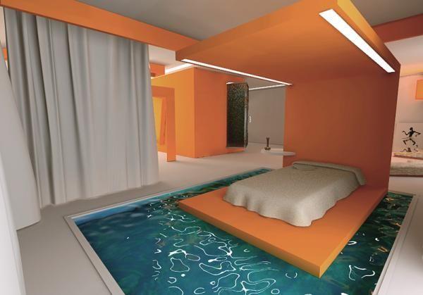 Pin di PEACH SERAPH su INTERIORS AND EXTERIORS | Pool bedroom ...