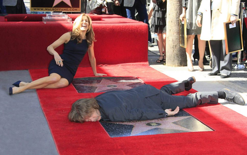 Felicity Huffman and William H. Macy on the Hollywood Walk of Fame