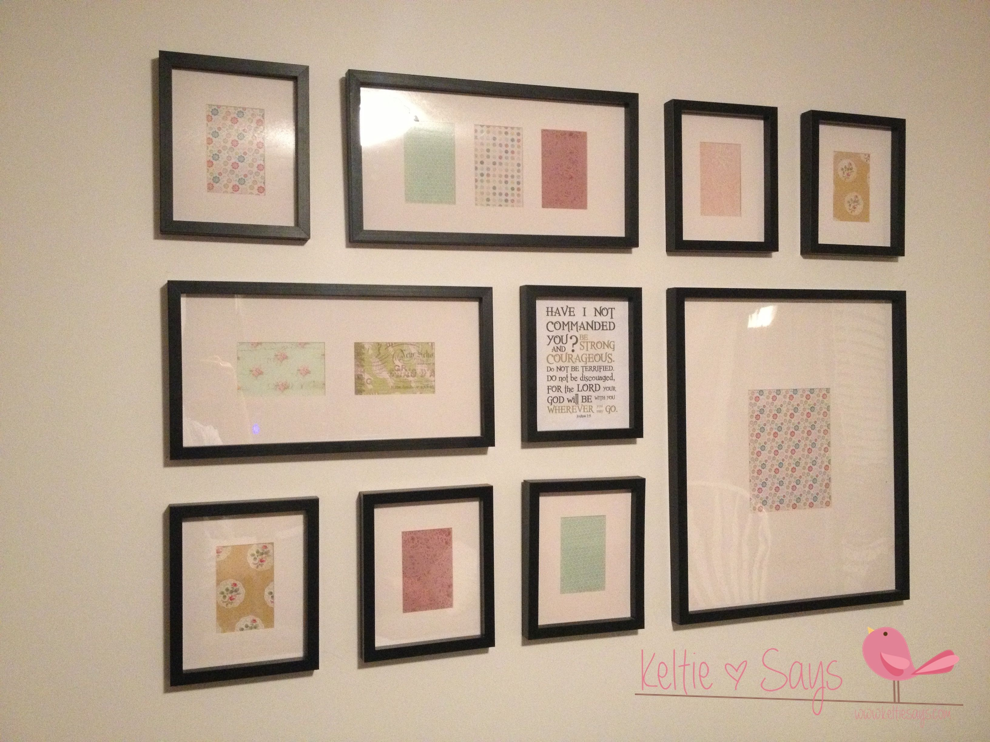 Photo Frame Collage Wall | Teen Girls Room | Pinterest