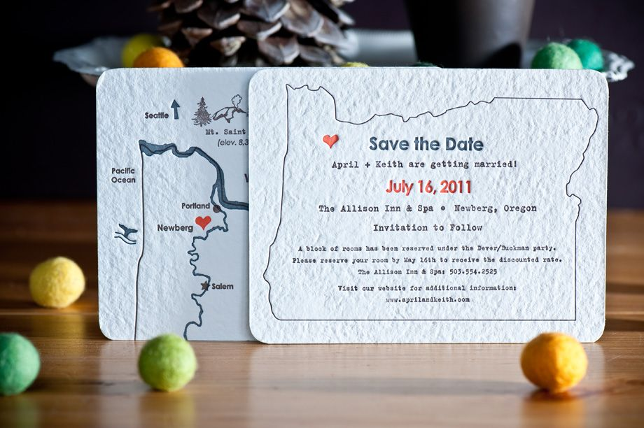 Wedding Invitations Portland Oregon: Letterpress Wedding Invitations