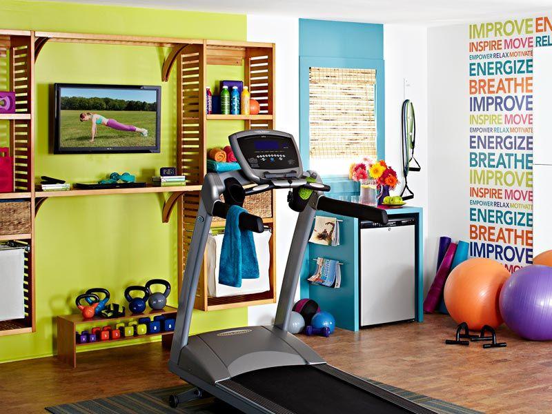 shape up a spare room into a home gym complete with a treadmill a rh pinterest com