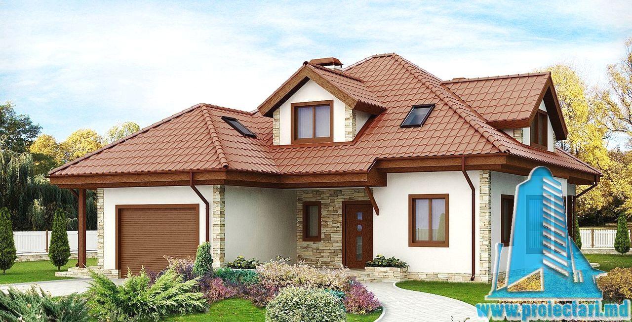 Proiect De Casa Cu Mansarda Si Garaj Con Modele Case Cu Mansarda E