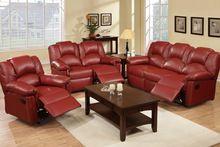 burgundy bonded leather reclining sofa loveseat f6677 78 rh pinterest com