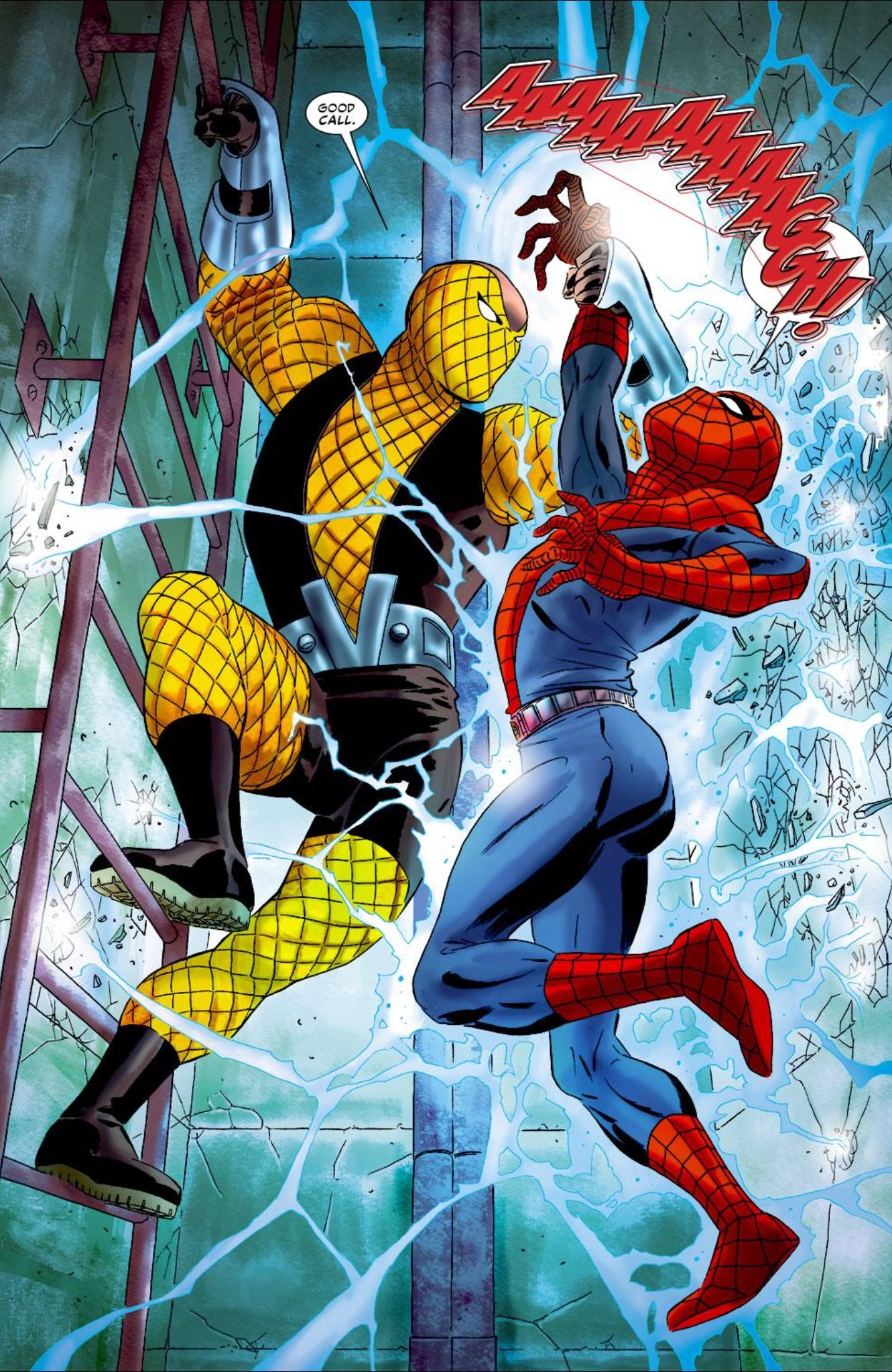 spiderman and shocker in quotunscheduled stopquot marcos