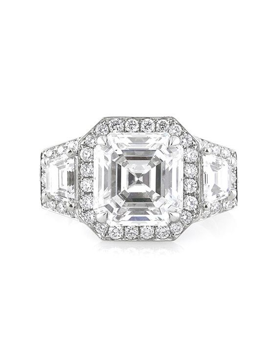 4.53ct Asscher Cut Diamond Engagement Ring by 4.53ct Asscher Cut Diamond Engagement Ring // More from 4.53ct Asscher Cut Diamond Engagement Ring: http://www.theknot.com/gallery/wedding-rings/mark-broumand