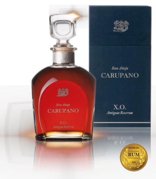 Ron Añejo Carupano X.O Antiguas Reserva, Ultra Premium, se lanzó,al mercado en el 2012 Destilería Carupano.