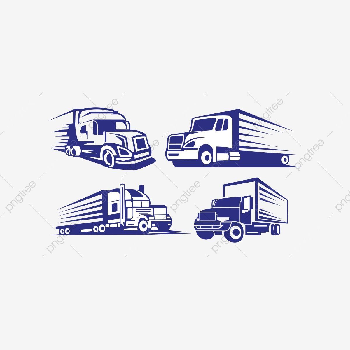 Caminhao Reboque Transporte Inspiracao Logo Vector Van American