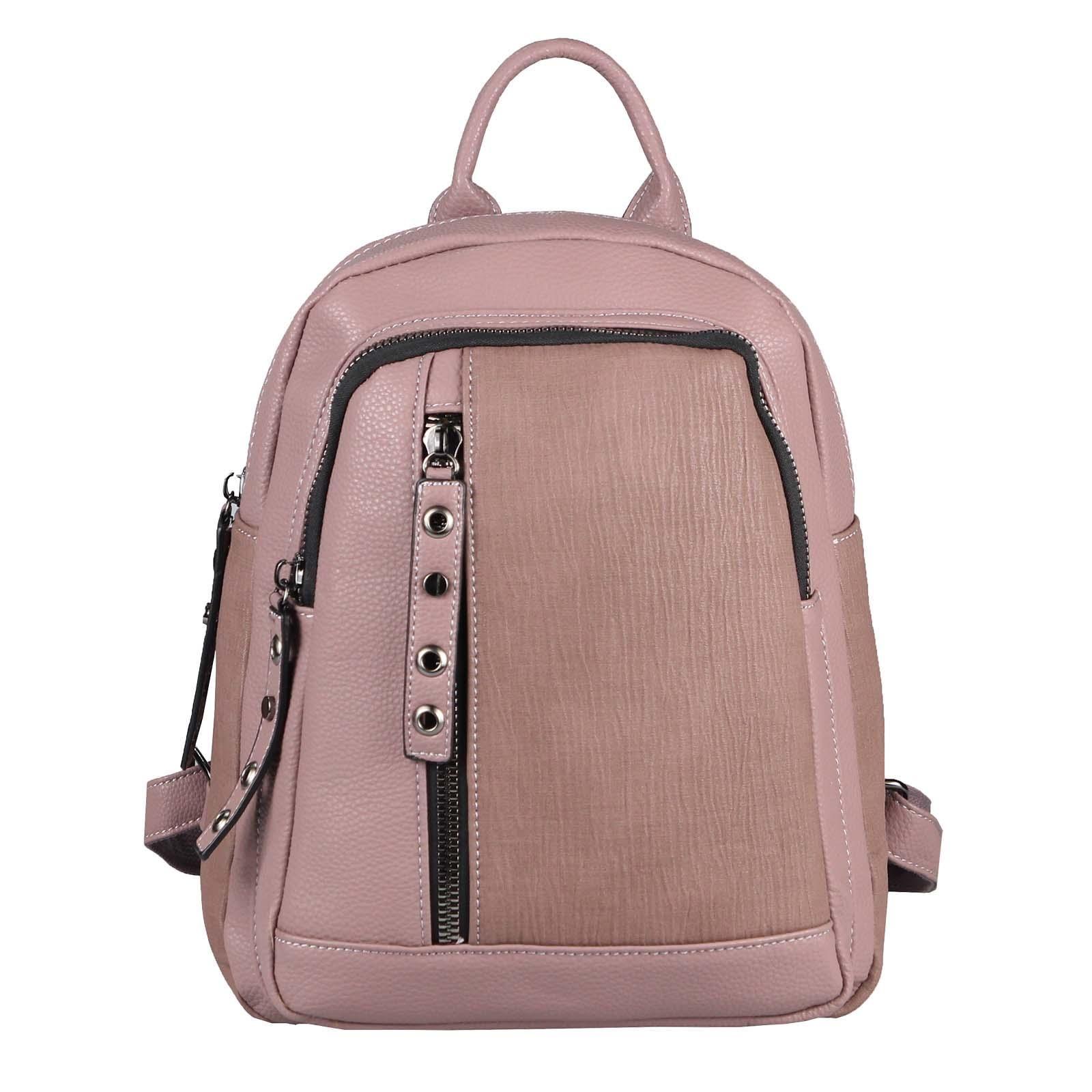 Damen Rucksack Tasche Cityrucksack Stadtrucksack Daypack Backpack Schultertasche Handtasche Umhangetasche Shopper Reise Altrosa Handtasche Umhangetasche Schultertasche Rucksack Tasche