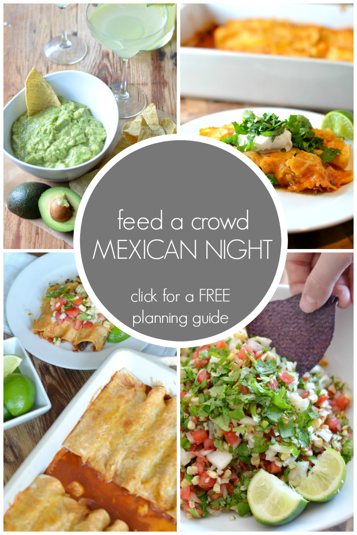 feed a crowd mexican night menu and free planning guide gracefull