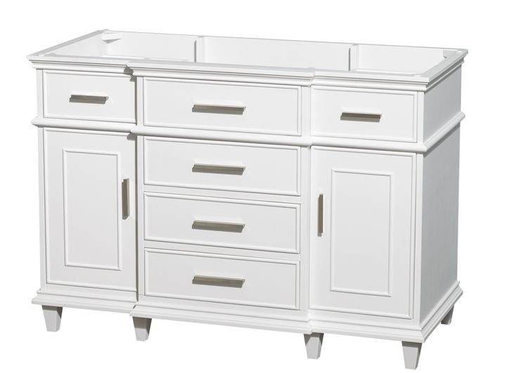 ackley 47 inch white finish bathroom vanity cabinet only bathroom rh pinterest com
